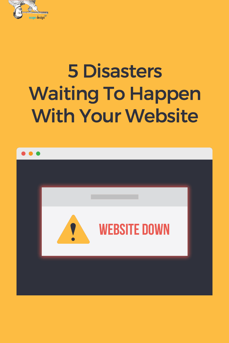Many things can spell disaster for your #website. We listed the top 5 worst and what you can do to solve them! via @scopedesign